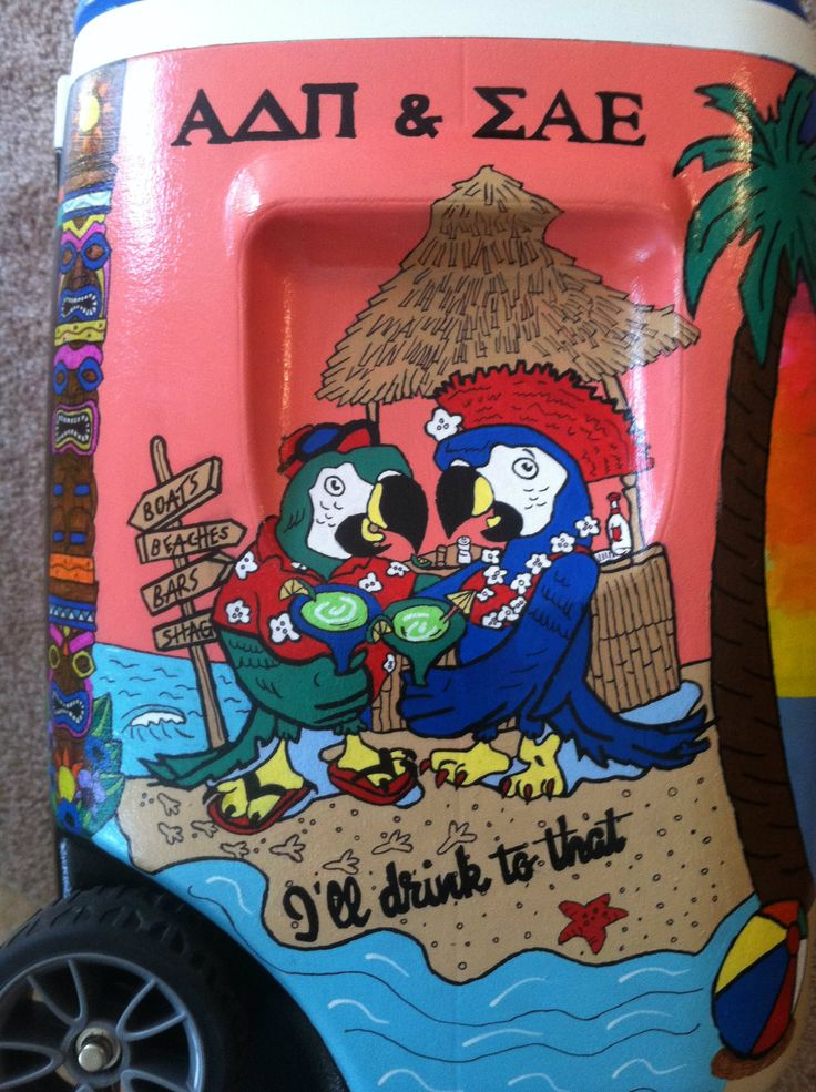 SAE fraternity beach weekend/formal cooler
