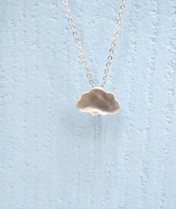 This silver-lined rain cloud necklace. | 18 Teeny Tiny Silver Necklaces You Must Buy