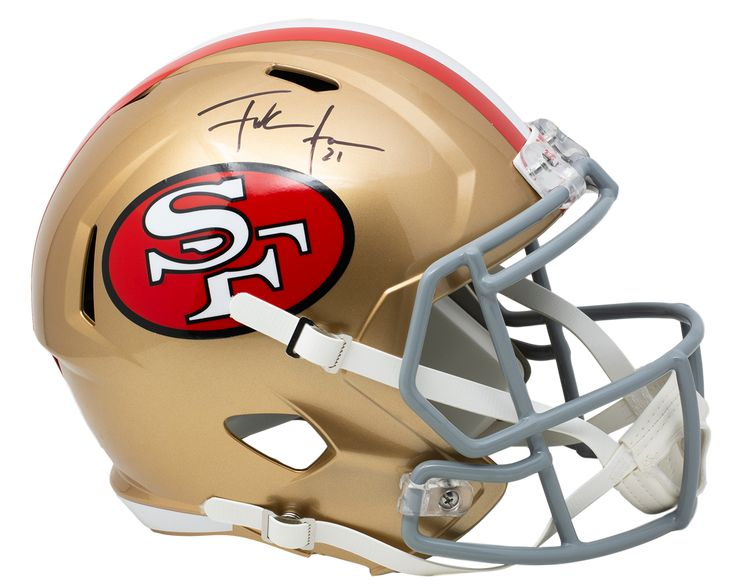 Frank gore signed 49ers full size color rush speed replica