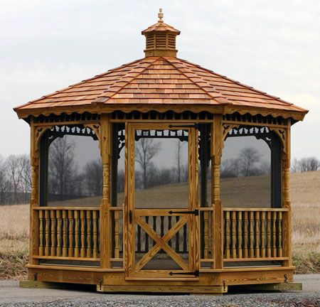 Screened in gazebo
