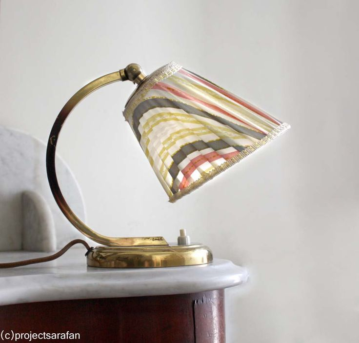 Vintage 1950s Lamp. Small Bedside French Lamp,