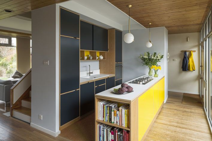 Love the colour combination of this plywood kitchen - really gorgeous