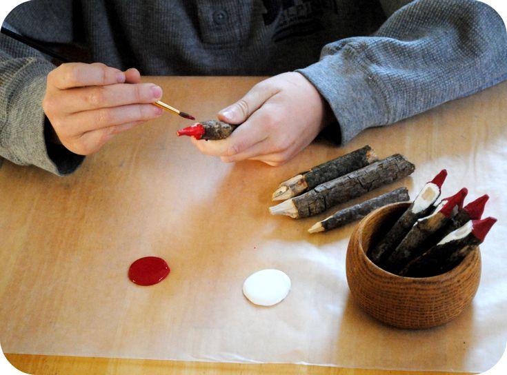 GardenMama: .: Carving Twig Gnomes ~ Tutorial :.