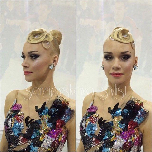 banana peel hairstyle : 1000+ images about ballroom hair on Pinterest Updo, Ballroom dance ...