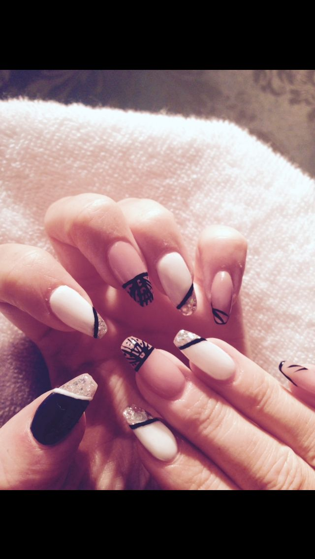 98 best my nail designs images on pinterest nail art ideas nail art deco coffin gel nails prinsesfo Choice Image