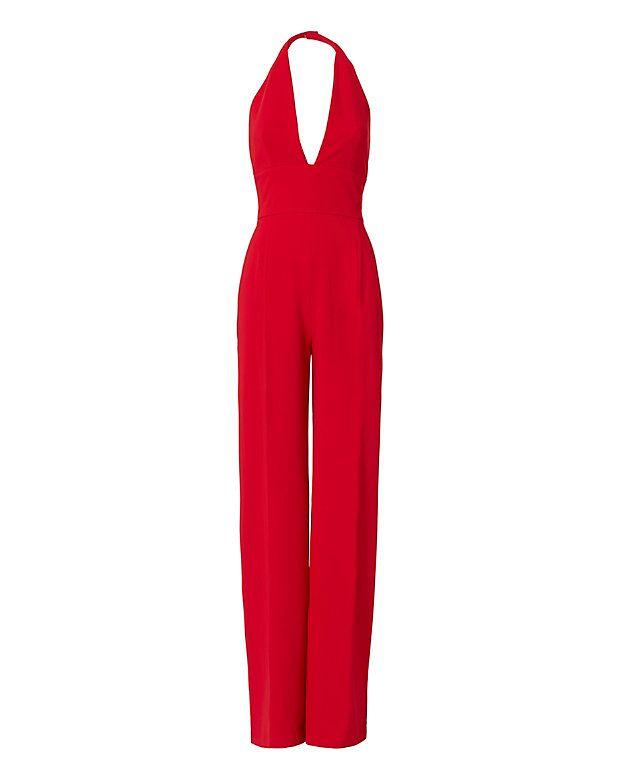 La Mania Halter Red Jumpsuit - INTERMIX®