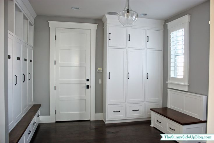 Mud room design ideas a collection of ideas to try about for Entryway lockers with doors