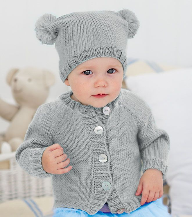 Cardigan and Pompom Hat in Sirdar Snuggly DK 50g (5383S ...