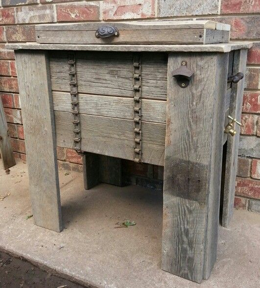 13 Best Images About Barn Wood Cooler On Pinterest