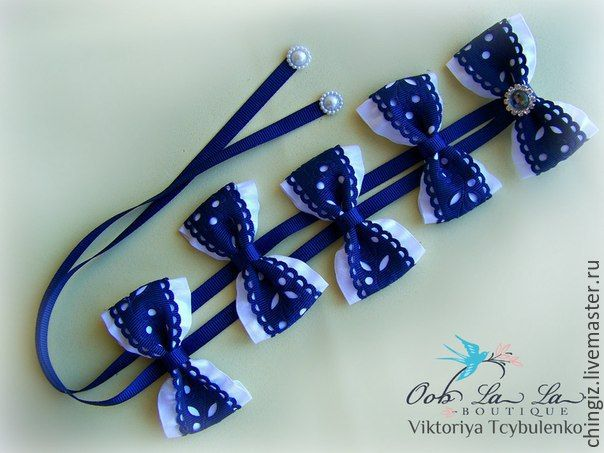 Купить ленты с цветами для вплетения в косы - фиолетовый, канзаши, Бантики из лент, атласная лента, тесьма