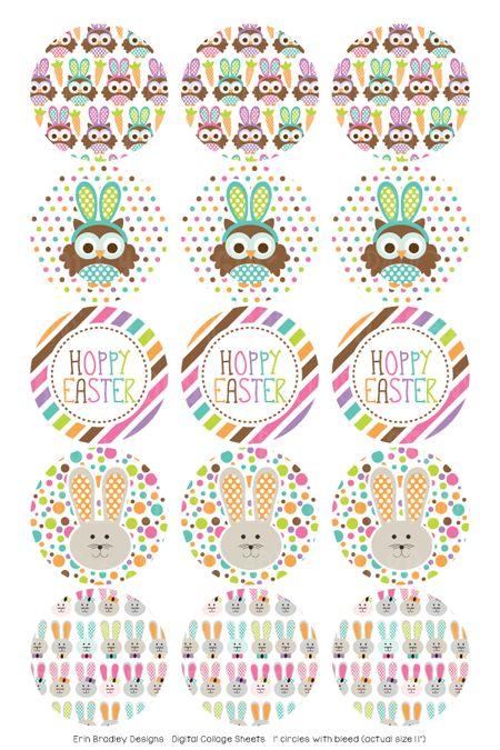 Hoppy Easter Digital Bottle Cap Images – Erin Bradley/Ink Obsession Designs