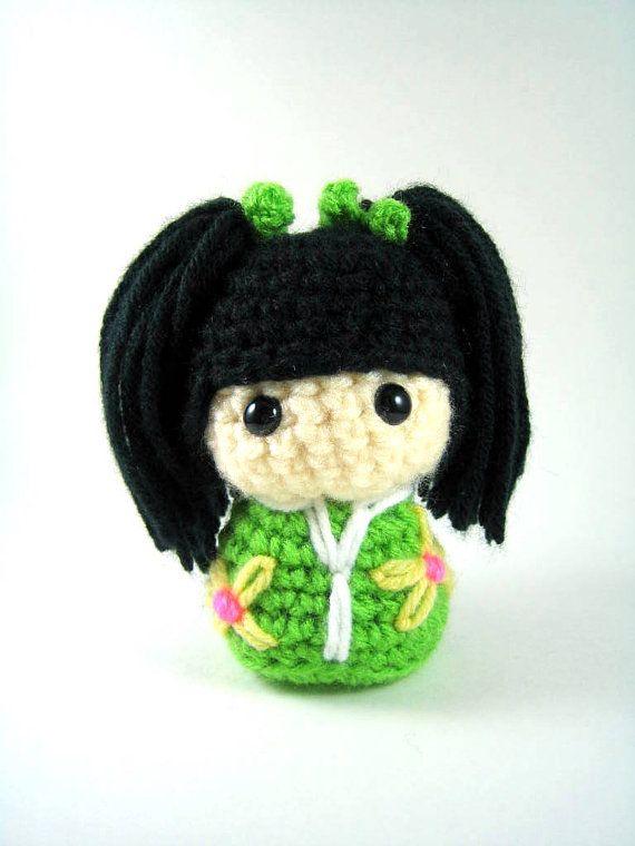 Amigurumi Japanese Doll : 17 Best images about amigurumi - Kokeshi Doll on Pinterest ...