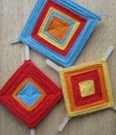Cinco de Mayo Craft Idea: A Colourful Ojo de Dios - Easy, fun craft for kids!