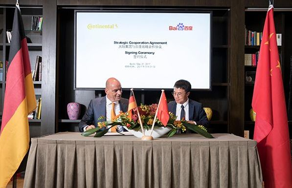 Germany's Continental AG Partners With Baidu, NextEV to Develop Electric Cars and Automated Driving - YicaiGlobal-Connecting China With the World