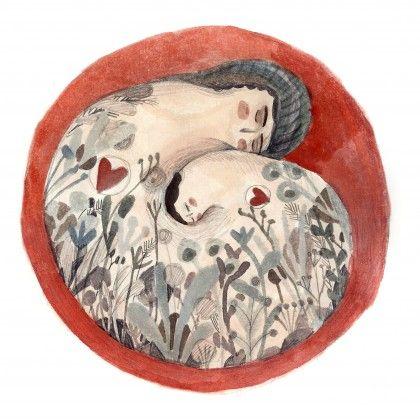 Placenta. #watercolor