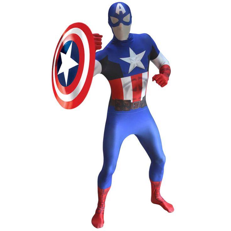 Morphsuit Adults' Deluxe Zapper Marvel Captain America #CaptainAmerica #Kostüm