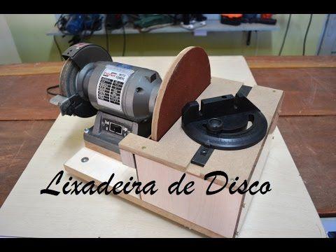 Lixadeira de disco caseira com motor de Esmeril - YouTube