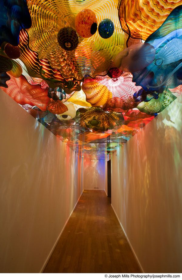 Dale Chihuly (American, b. 1941)  Oklahoma Persian Ceiling, 2002  Glass, 40 x 6 ft.  Oklahoma City Museum of Art. Museum Purchase, 2004.022