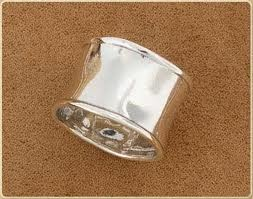 Ladies Chunky Silver Sparkly Rings In Size S