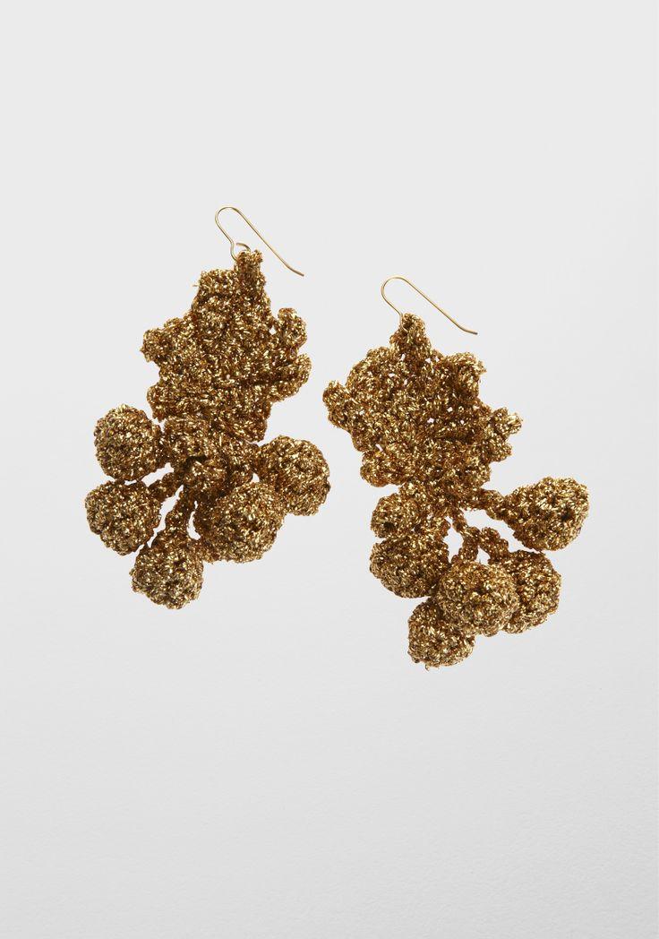 Lucy Folk presents FEAST - NH: Fall 12 / SH: Spring/Summer 12 - GOLDEN GRAPEVINE EARRINGS