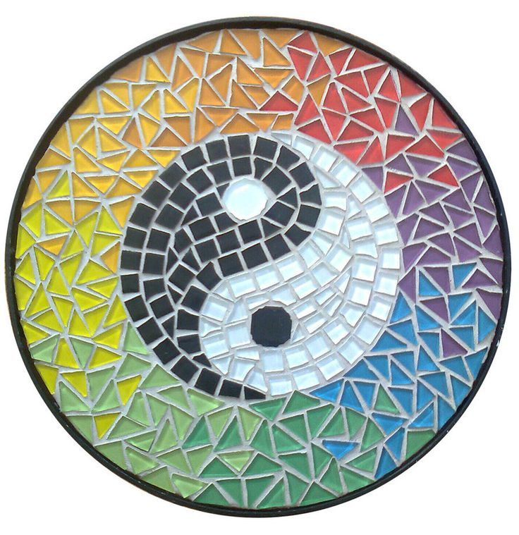 121 best images about mosaiquismo on pinterest sun for Table yin yang