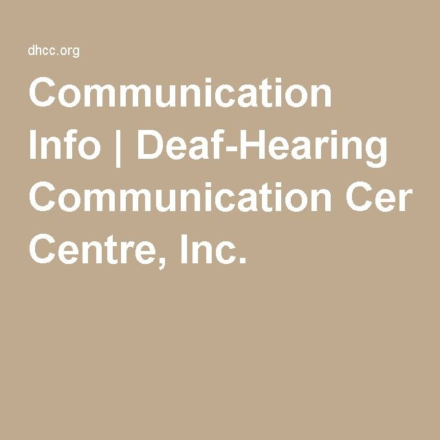 Communication with the hearing impaired: Provides information on hoe to communicate with the hearing impaired in different settings including; groups, hospitals and emergency situations