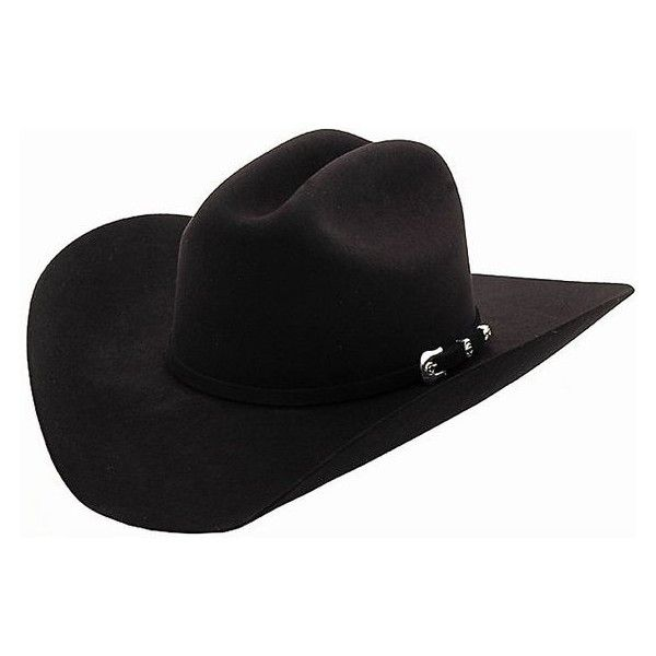 Cavender's 10X Silver Star Black Felt Cowboy Hat ❤ liked on Polyvore featuring accessories, hats, western style hats, cowboy hat, felt hat, star hat and western hats