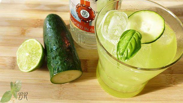 Cucumber, Basil & Lime Gimlet - Bucataria Ramonei