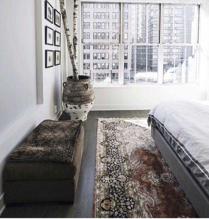 Bedroom x area rug