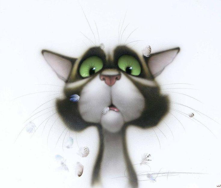 Интерьера, рисунки прикольных котов и кошек