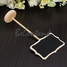 10x Wooden Rectangle Blackboard Chalkboard with Stand Wedding Table Number Sign