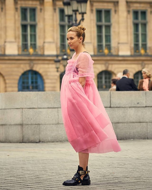 Pink Dress from Killing Eve | OUTFIT INSPIRATION in 2019 ...
