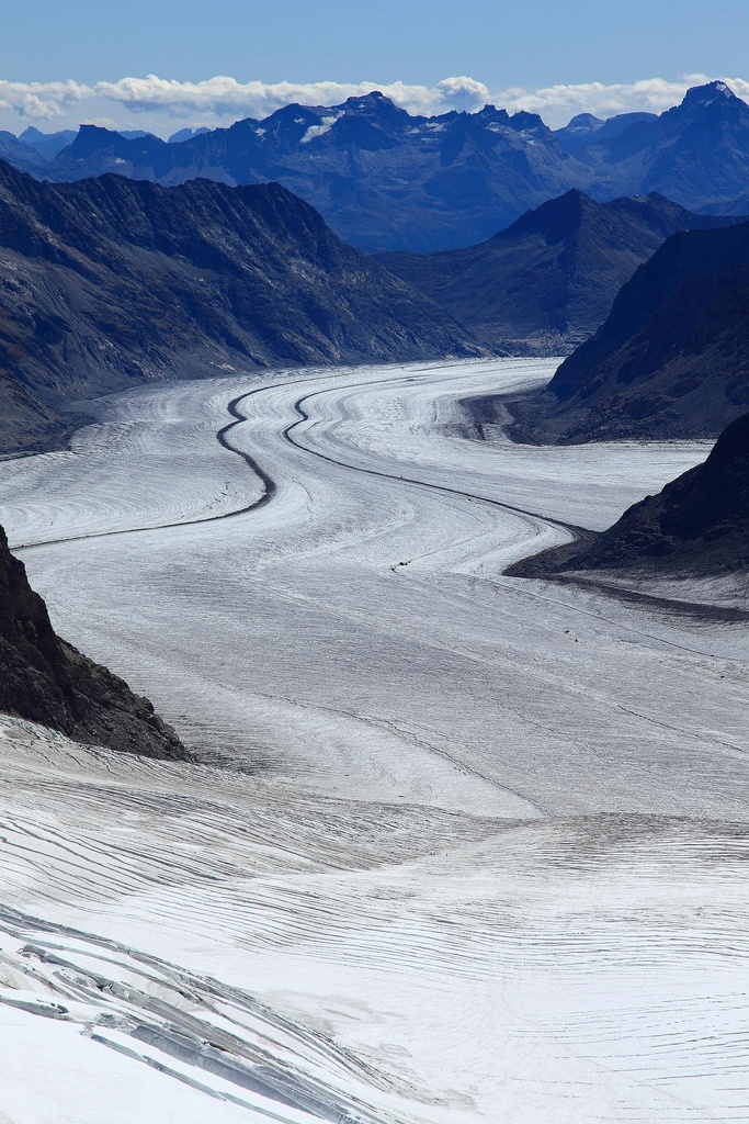 Aletsch Glacier- Jungfraujoch, Bernese Oberland, Switzerland.