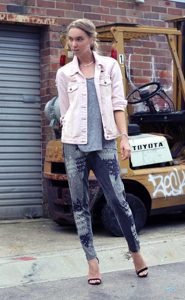 Steph Kramer from Watermelon Crush wearing TALLOW 'Traveller' Trackpants