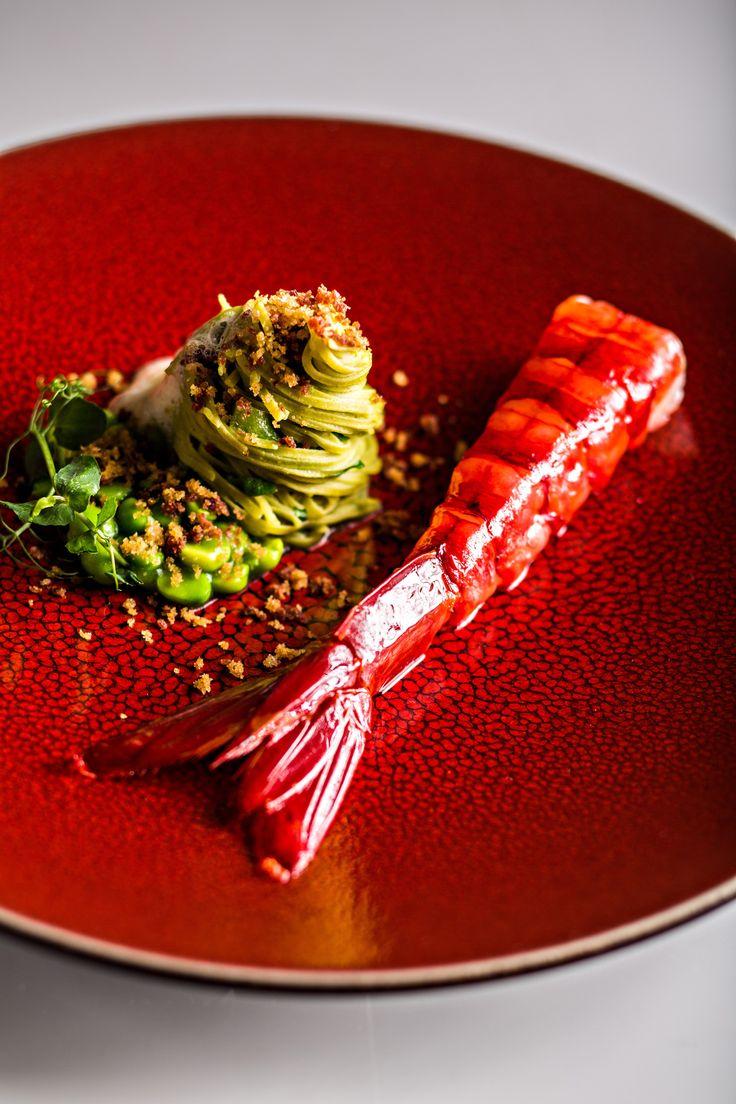 Gambas de Palamos par Stéphanie Le Quellec L'art de dresser et présenter une assiette comme un chef de la gastronomie...