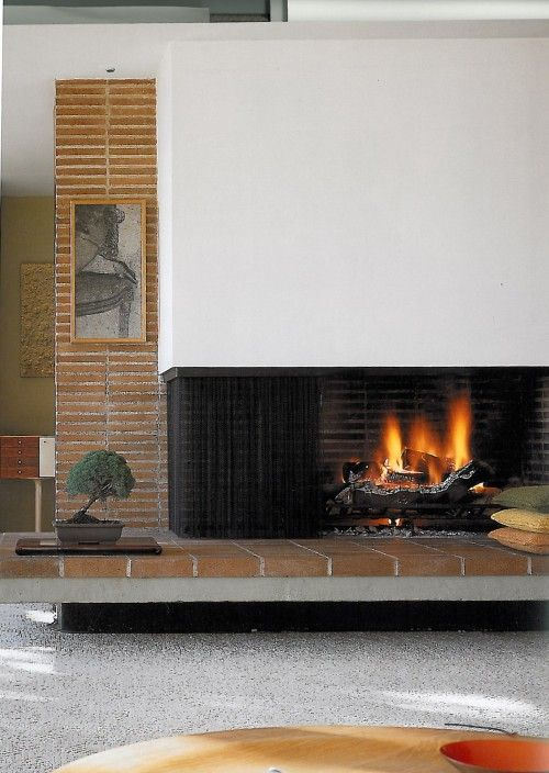 10 Best Ideas About Midcentury Fireplaces On Pinterest House And Home Modern Home Plans And