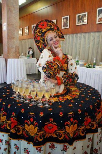 Русский стиль свадьбы