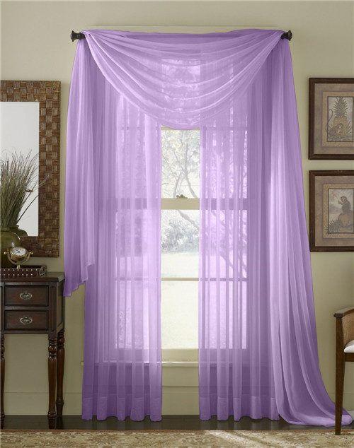 Light Purple Grommet Voile Sheer Curtains Panel 10_ Solid Color Voile Sheer Valance Panels www.pluscurtains.com pluscurtains@gamil.com whatsapp:+ 861506814867