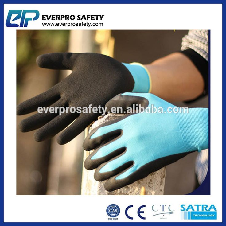13G Polyester liner Blue Foam Latex Lady Glove Work Safety Gloves