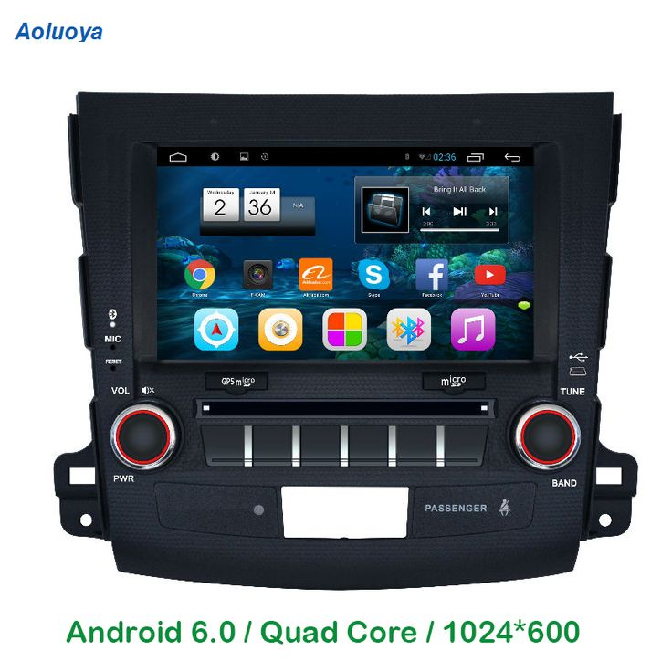 Aoluoya 1024*600  Quad Core Android 6.0  CAR DVD GPS PLAYER FOR Mitsubishi Outlander 2007 2008 2009 2010 2011 WIFI Bluetooth 3G