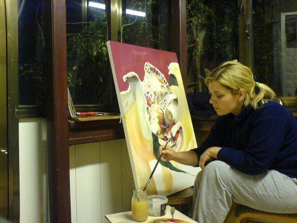 me , oil paint,