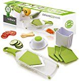 #4: Deluxe Cook V-Blade Mandoline Slicer  Light Compact Easy to Use & Clean  Vegetable Slicer  French Fry Cutter  Potato Chip Slicer  Julienne Tool  Plus FREE Recipe eBook