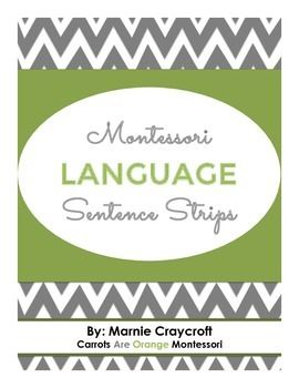 These Montessori Green Level Sentence Strip set includes 24 cards with images and sentence to match. Children will enjoy this work because the images are real and relevant. I created these sentences with an outdoor theme.