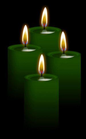 4 velas verdes: se puede utilizar para la abundancia, el crecimiento, el dinero, el éxito, la riqueza, la curación física, la salud, el matrimonio, la fertilidad, el empleo, el equilibrio, estimula el crecimiento, la curación, el éxito financiero, la buena suerte, nuevo trabajo, una buena cosecha, apreciación de la naturaleza , el amor .. Por ~ ✯ Blood-Huntress