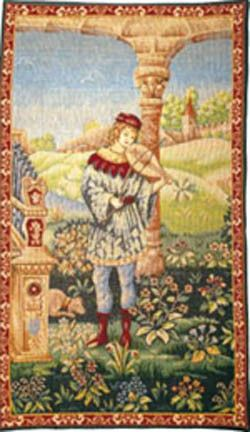 Le Troubadour Tapestry Wall Hanging