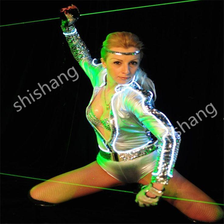H0815 El lazer kılıç/sahne gösterisi dans için elle kontrol parti disco dj lazer ışığı kostümleri balo salonu dans şarkıcı giyer led   32438700554_ru