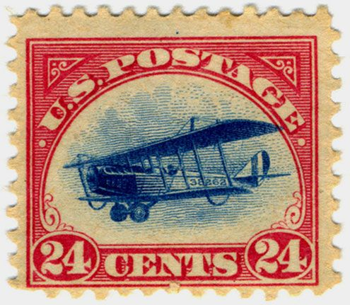 "Airmail Stamp  ""Jenny"" airmail stamp from 1918."