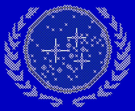 United Federation of Planets Insignia Patch Counted Cross Stitch Pattern PDF