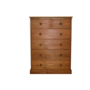 Portchester Pine Waxed 6 Drawer Chest (2 over 4) www.easyfurn.co.uk