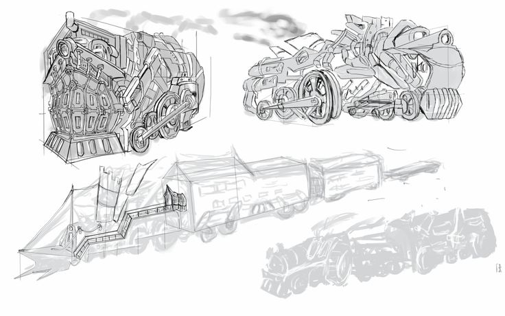 Concept art that I did while brainstorming fordesignfor my train